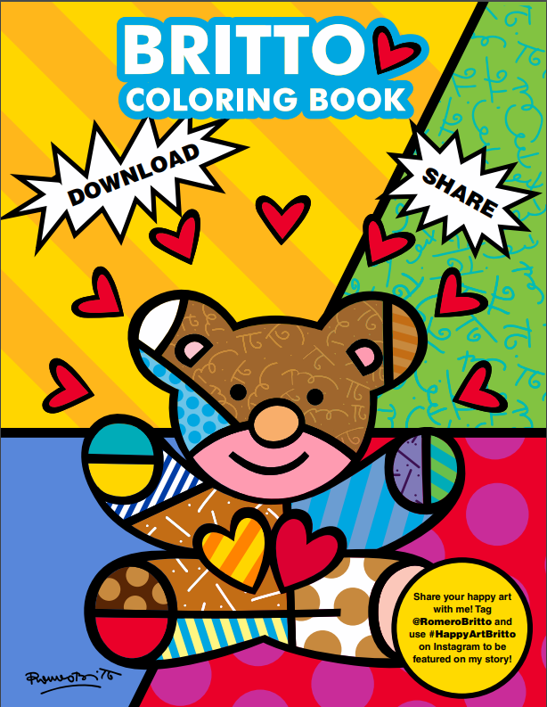 BRITTO Coloring Book